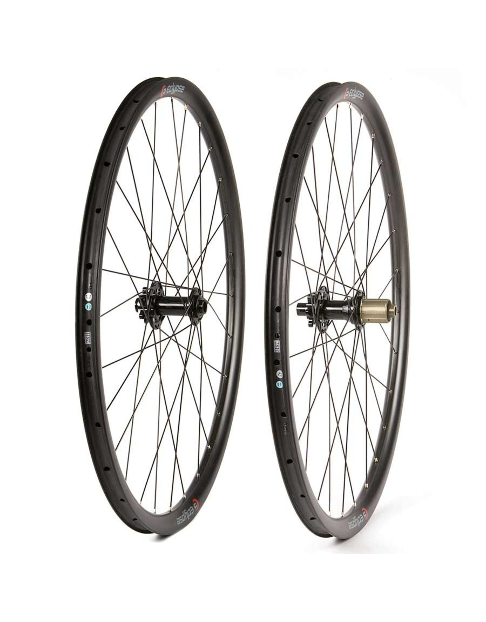 Eclypse, S9 Gravel 700C, Wheel, Front and Rear, 700C / 622, Holes: F: 28, R: 28, 12mm TA, F: 100, R: 142, Disc Center Lock, Shimano HG 11, Pair