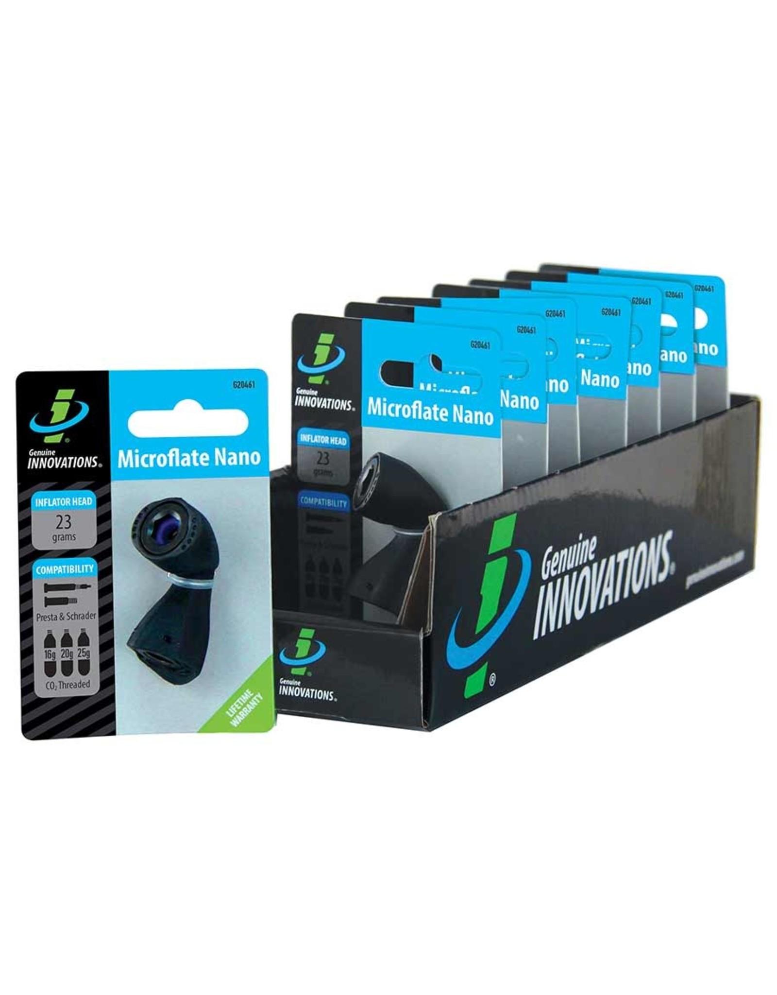 Microflate Nano, CO2 Inflator, No cartridge, Black