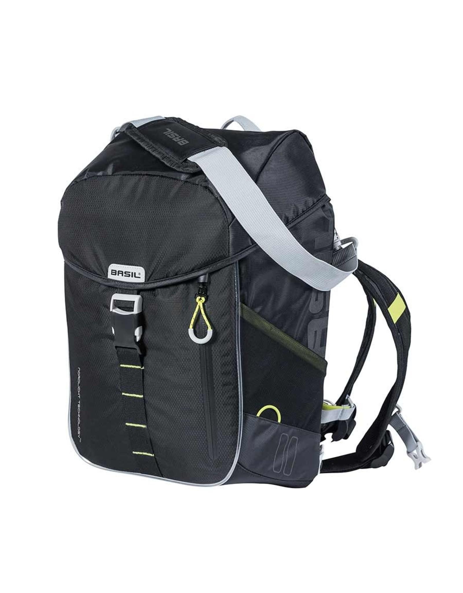 Basil Basil, Miles, Backpack, Nordlicht Technology, 17L, Black/Lime