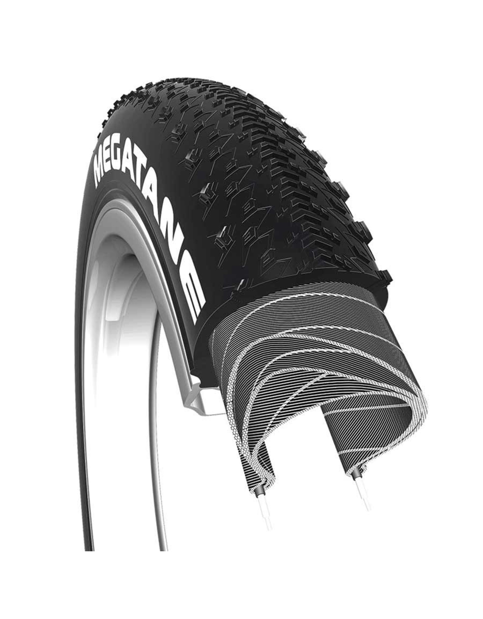 CST CST, Megatane, Tire, 26''x4.00, Wire, Clincher, Single, 60TPI, Black