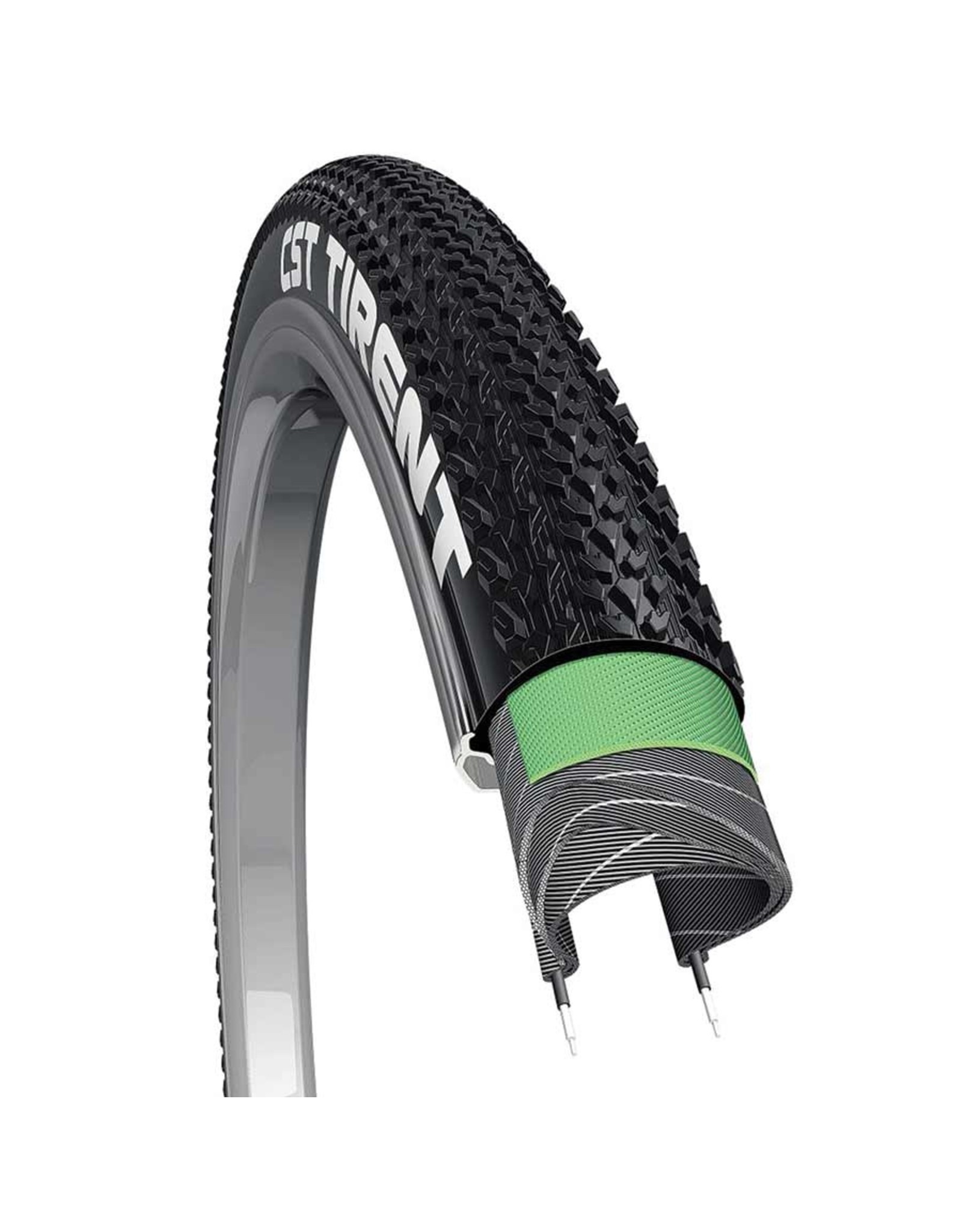 CST, Tirent, Tire, 700x40C, Wire, Clincher, Dual, EPS, 60TPI, Black