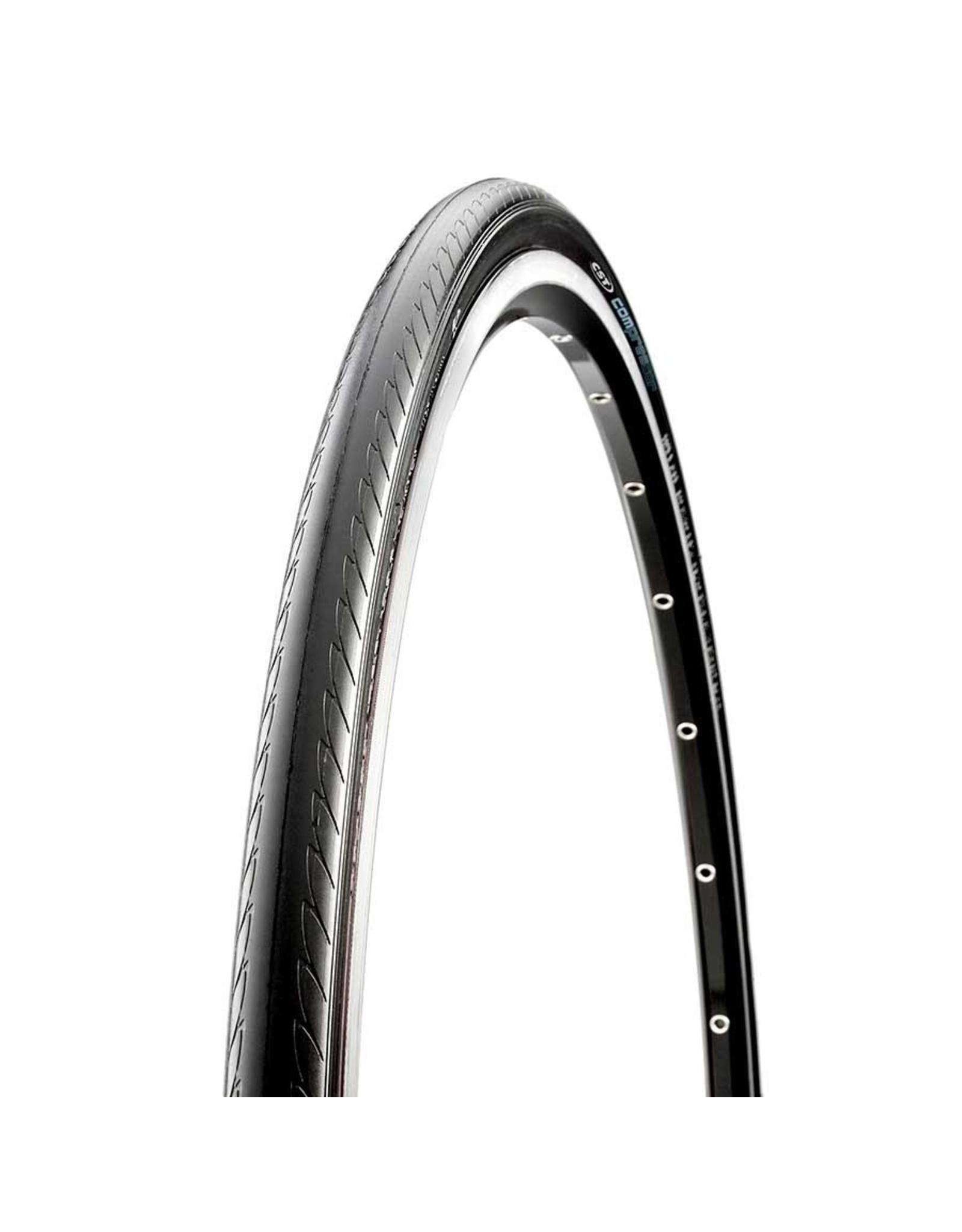 CST CST, C1390 (Compressor), Tire, 700x25C, Wire, Clincher, Single, 27TPI, Black