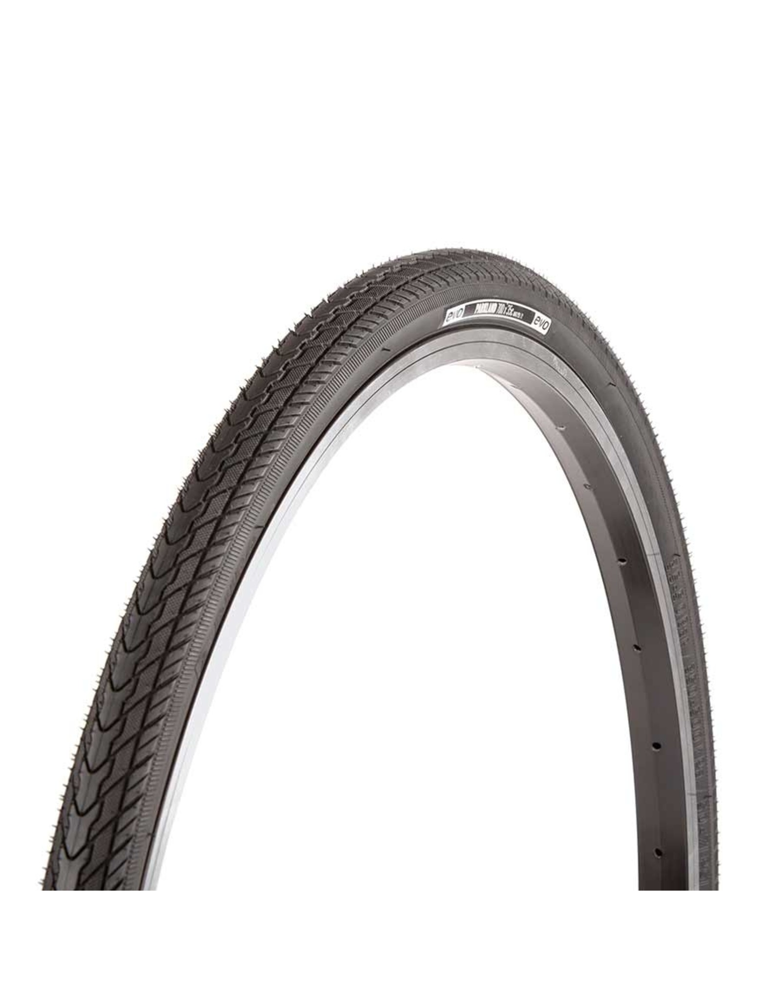 EVO, Parkland, Tire, 700x35C, Wire, Clincher, Black