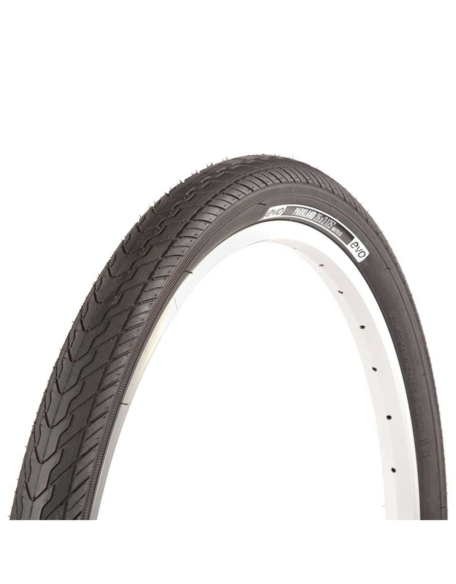 EVO EVO, Parkland, Tire, 26''x2.125, Wire, Clincher, Black