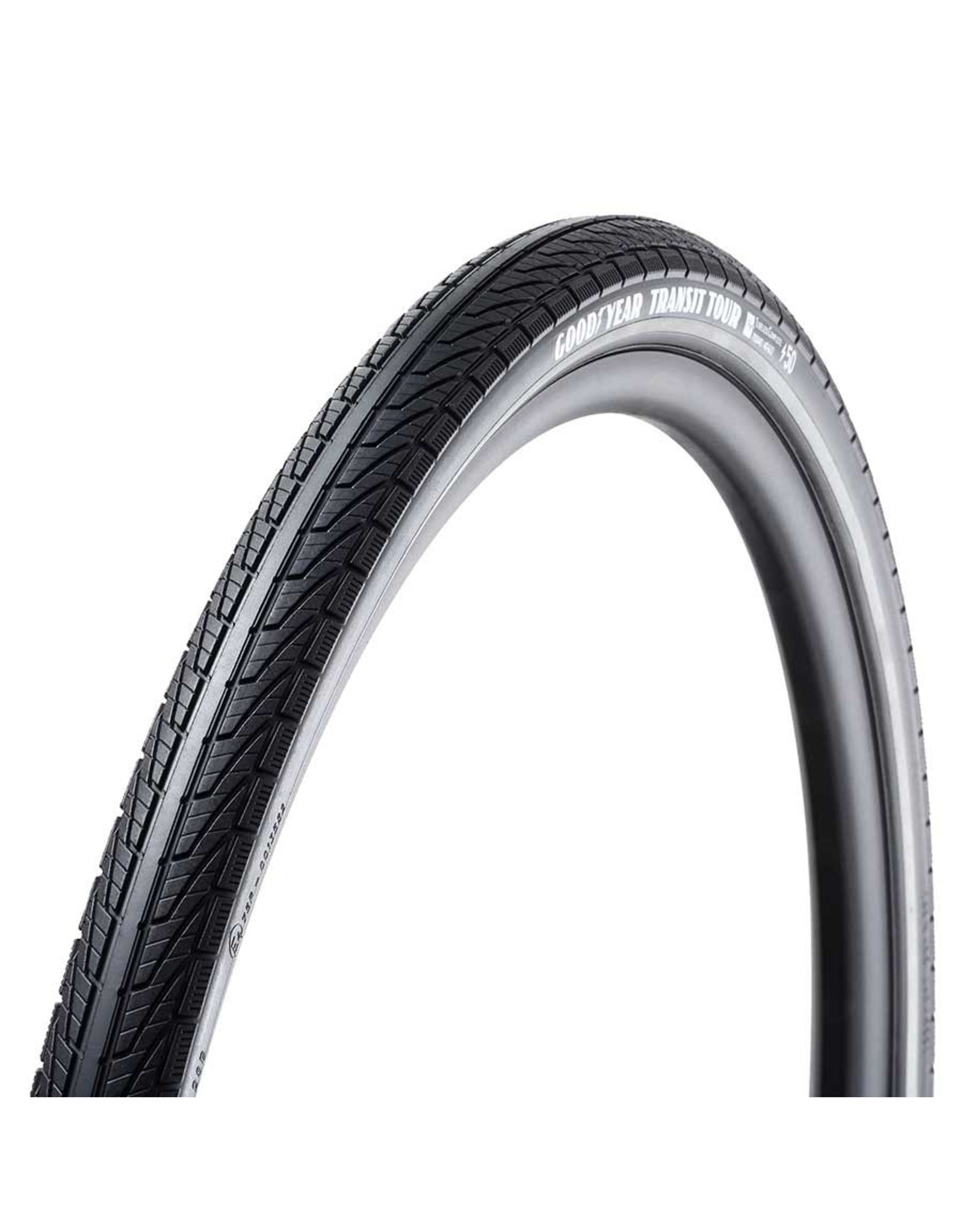 Goodyear Goodyear, Transit Tour, Tire, 700x35C, Wire, Clincher, Dynamic:Silica4, S3: Shell, 60TPI, Black