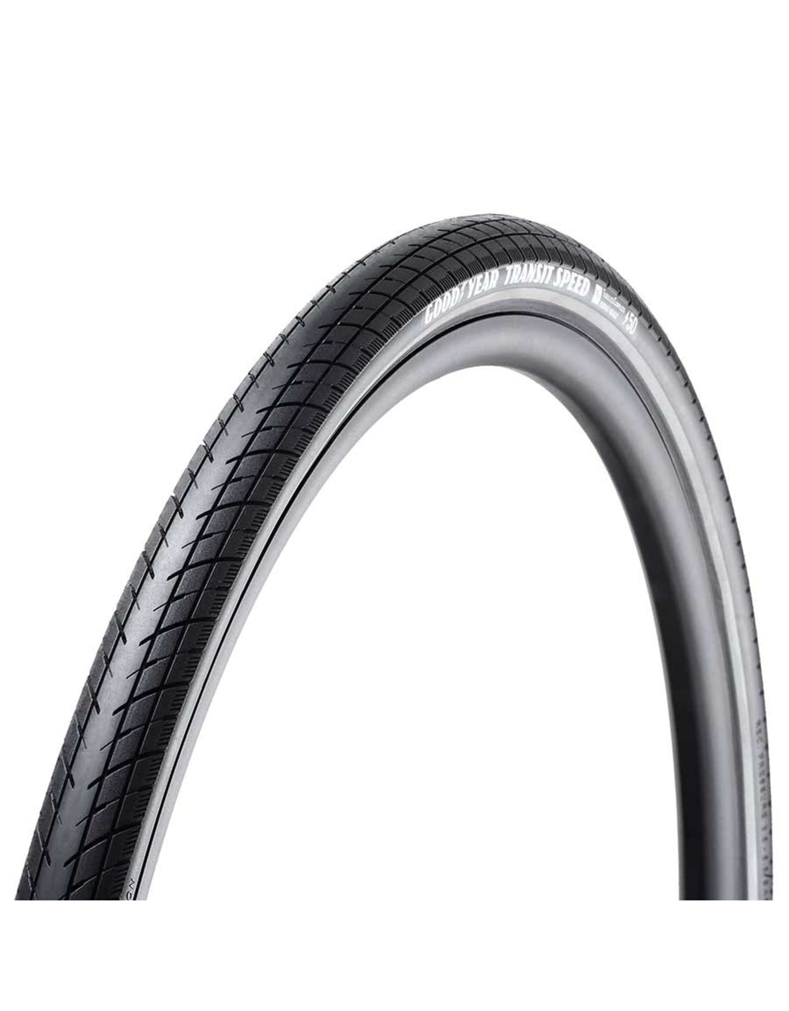 Goodyear Goodyear, Transit Speed, Tire, 700x35C, Wire, Clincher, Dynamic:Silica4, S5: Secure Shell, 60TPI, Black