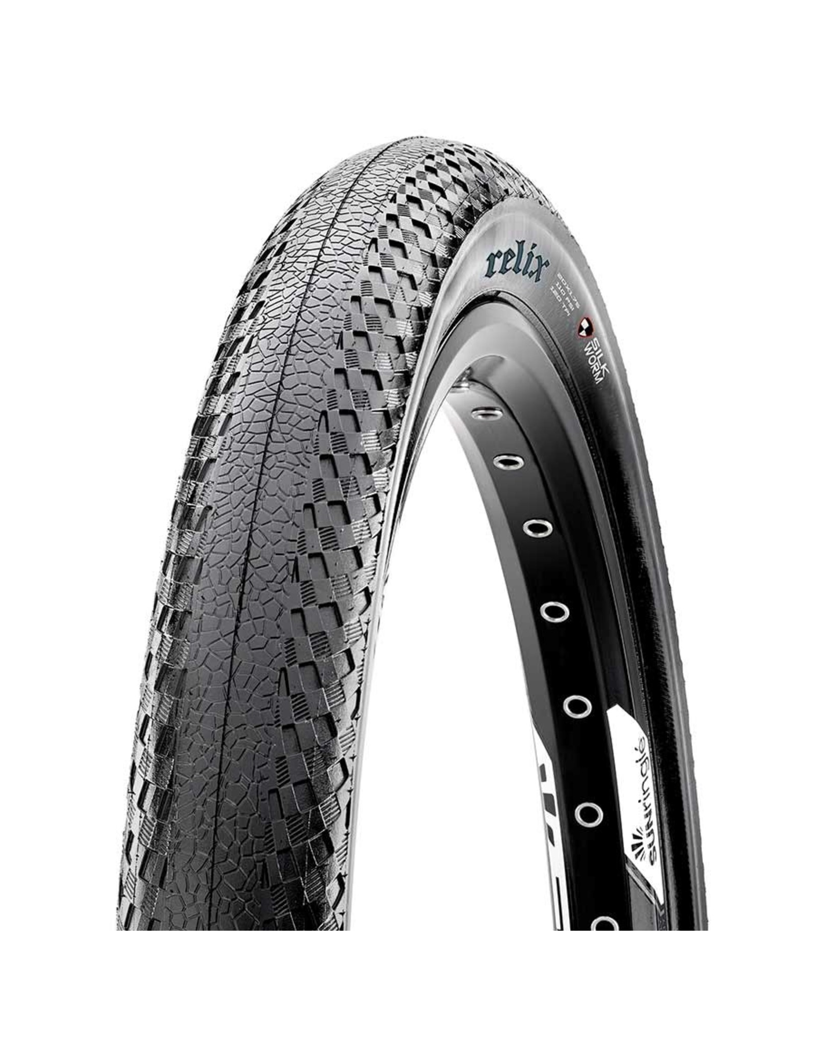 Maxxis, Relix, Tire, 20''x1.75, Folding, Clincher, Dual, SilkShield, 120TPI, Black