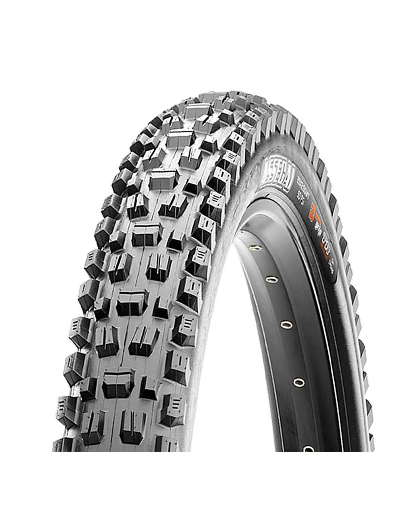 Maxxis, Assegai, Tire, 27.5''x2.50, Folding, Tubeless Ready, 3C Maxx Grip, Double Down, Wide Trail, 120x2TPI, Black