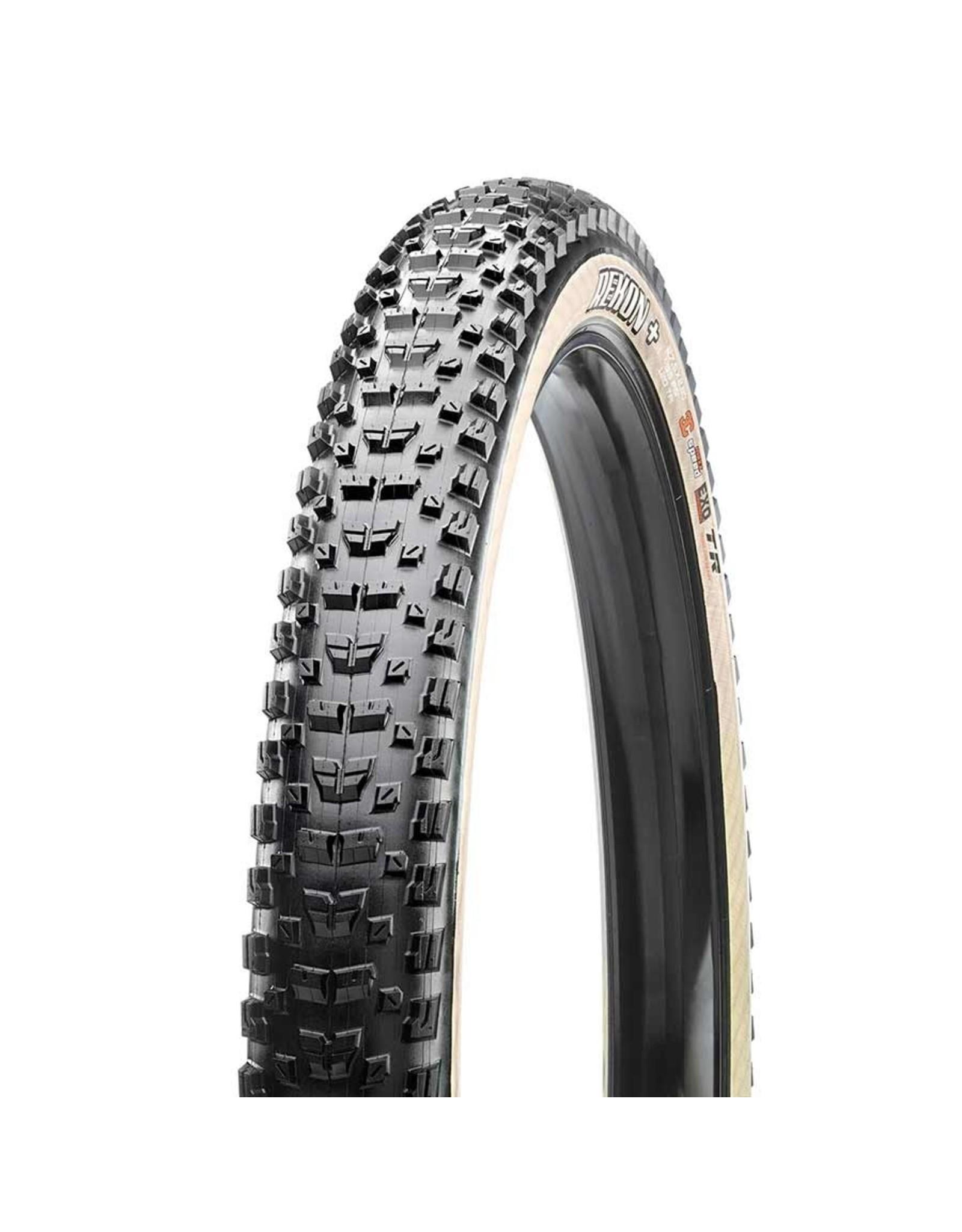 Maxxis, Rekon+, Tire, 27.5''x2.80, Folding, Tubeless Ready, 3C Maxx Terra, EXO, 60TPI, Beige