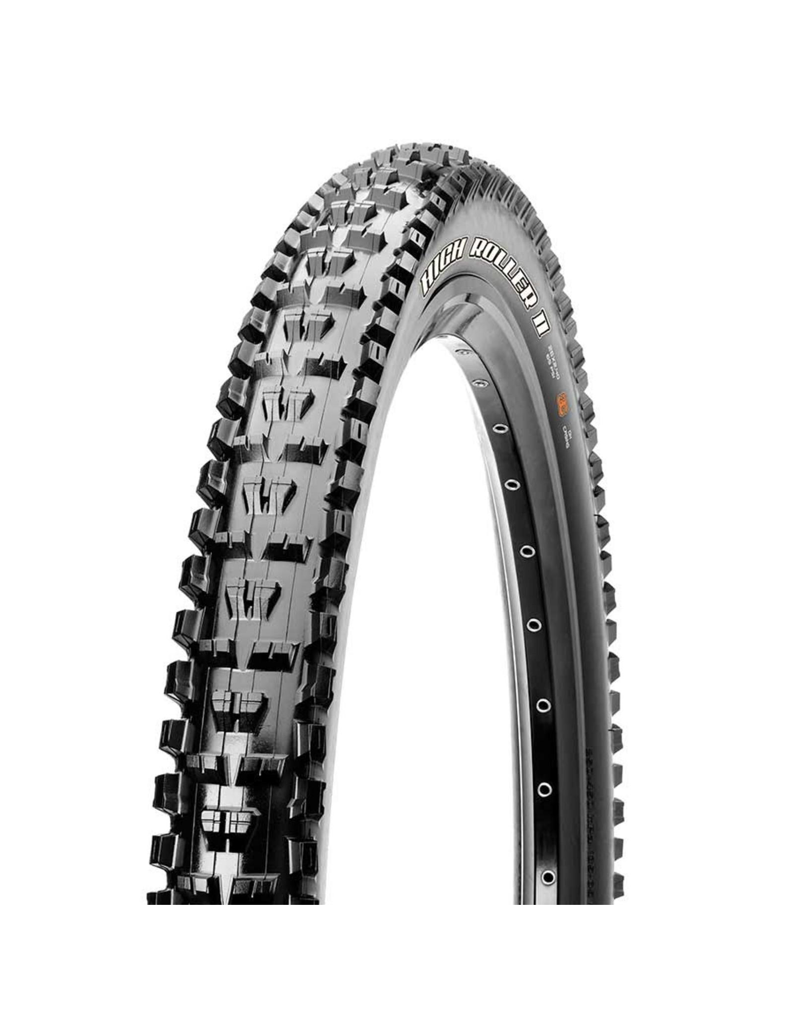 Maxxis, High Roller II, Tire, 27.5''x2.40, Folding, Tubeless Ready, 3C Maxx Grip, 2-ply, 60TPI, Black