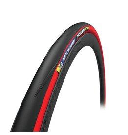 Michelin, Power Road, Tire, 700x25C, Folding, Clincher, X-Race, Aramid Protek+, 3x120TPI, Red