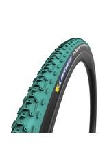 Michelin, Power Cyclocross Jet, Tire, 700x33C, Folding, Tubeless Ready, GreenCompound, Bead2Bead Protek, 3x120TPI, Green