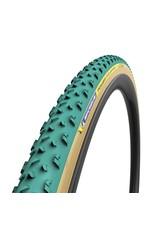 Michelin Michelin, Power Cyclocross Mud Tubular, Tire, 700x33C, Folding, Tubular, GreenCompound, 3x120TPI, Green