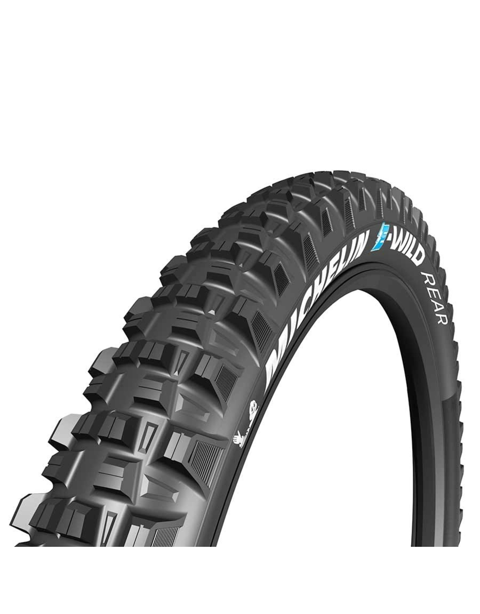 Michelin, E-Wild Rear, Tire, 27.5''x2.80, Folding, Tubeless Ready, E-GUM-X, GravityShield, 3x60TPI, Black