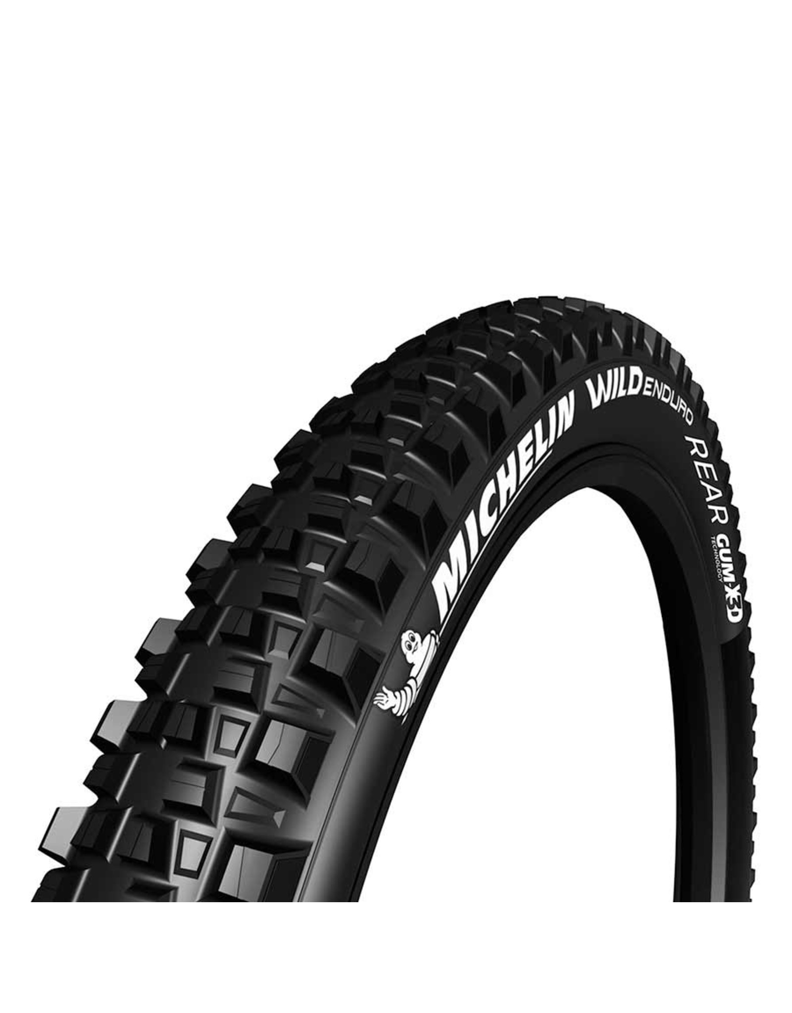 Michelin Michelin, Wild Enduro Rear, Tire, 27.5''x2.80, Folding, Tubeless Ready, GUM-X, GravityShield, 3x33TPI, Black