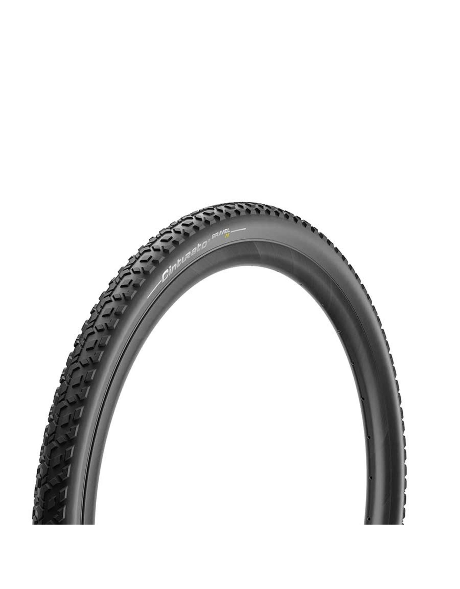 Pirelli, Cinturato Gravel M, Tire, 700x40C, Folding, Tubeless Ready, SpeedGrip, 127TPI, Black