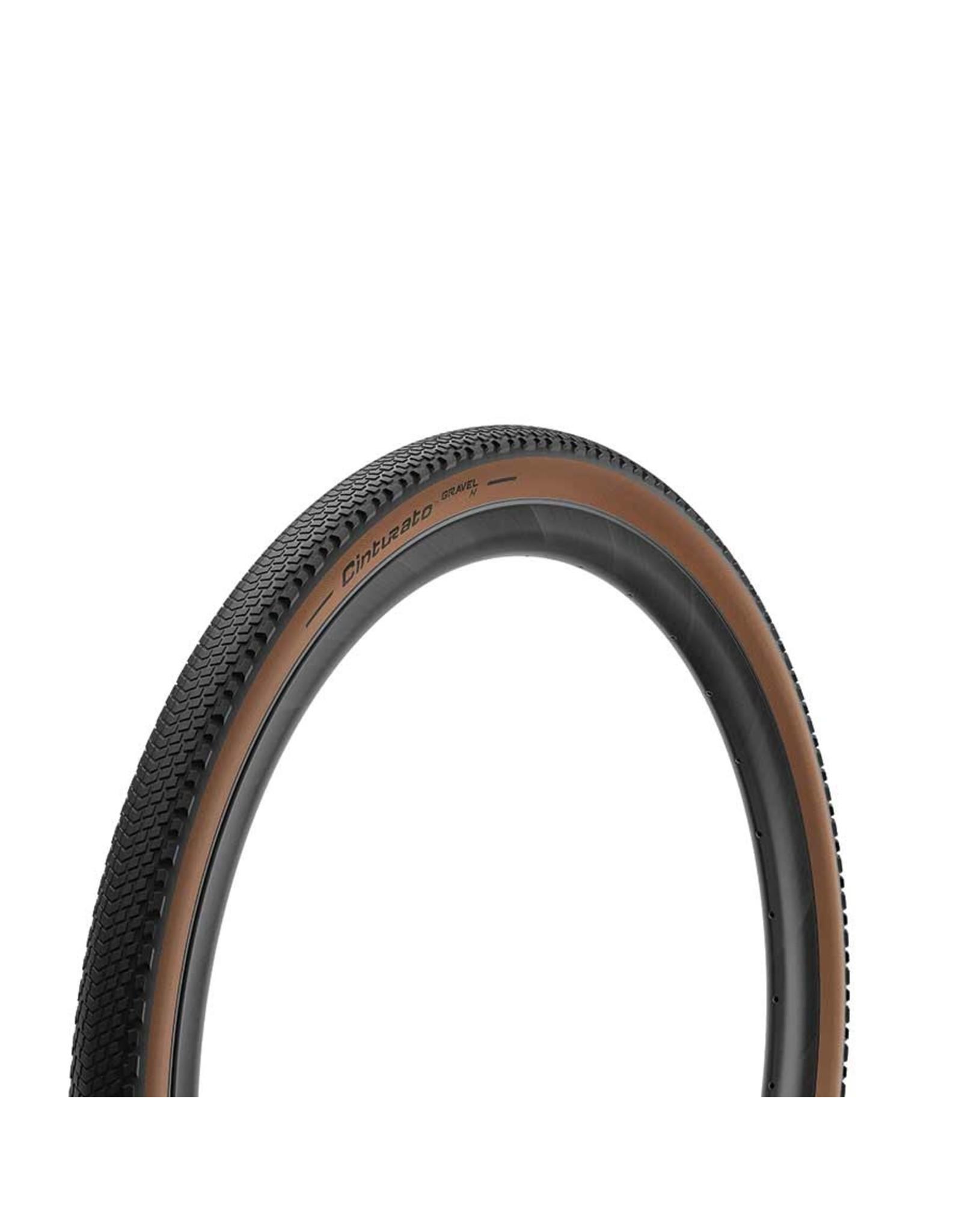 Pirelli Pirelli, Cinturato Gravel H, Tire, 700x35C, Folding, Tubeless Ready, SpeedGrip, 127TPI, Beige