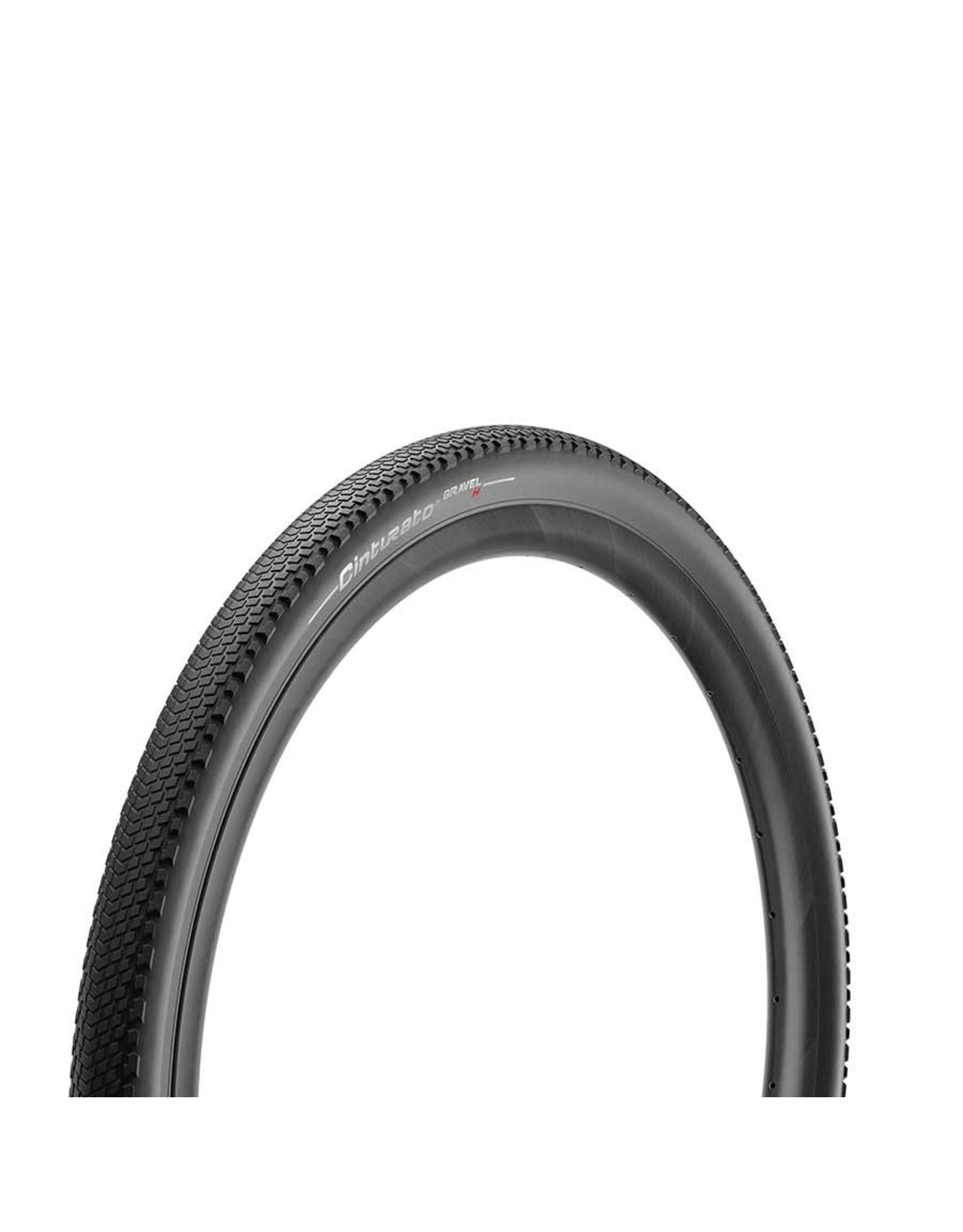 Pirelli, Cinturato Gravel H, Tire, 700x40C, Folding, Tubeless Ready, SpeedGrip, 127TPI, Black