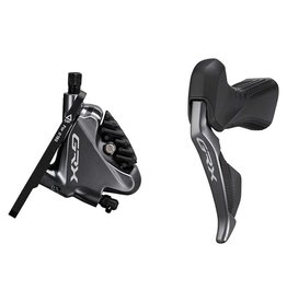 Shimano Shimano, GRX Di2 ST-RX815-L / BR-RX810-F, Road Hydraulic Disc Brake, Front, 2 speed, Flat mount, 140 or 160mm (not included), Black, Set