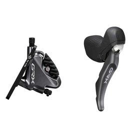 Shimano Shimano, GRX ST-RX810-L / BR-RX810-F, Road Hydraulic Disc Brake, Front, 2 speed, Flat mount, 140 or 160mm (not included), Black, Set