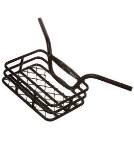 "EVO EVO, Brooklyn, Integrated Basket/Handlebar, Clamp size 31.8mm/upper & 25.4mm/lower, Width: 648mm, 230 X 335m, (9""x13.1"") Black, max weight 10kg/22lbs."