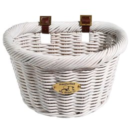 "Nantucket Nantucket, Cruiser D-Shaped, Basket, White 14.5""x10.5""x9.5"""