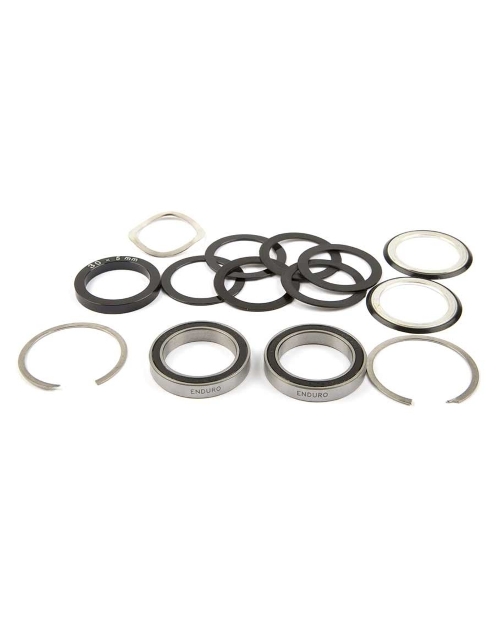 Enduro, Standard, Steel bearing kit, BB30, With seals and washers