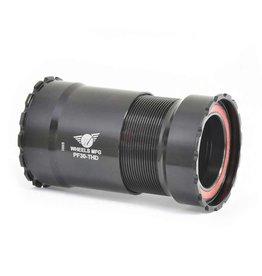 Wheels Manufacturing Wheels Manufacturing, PF30 Threaded, Press Fit BB, PF30, Spindle: 30mm, Width: 68mm, Diameter: 46mm