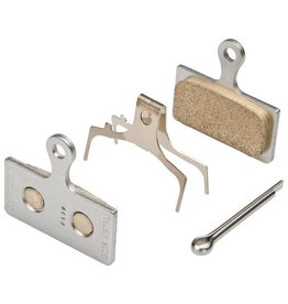 Shimano, BR-M8000, G04S, Disc brake pads, Metal, Without fins, Pair, G type, Y8MY98010