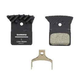 L03A, Disc Brake Pads, Shape: Shimano K-Type/L-Type, Resin, Pair