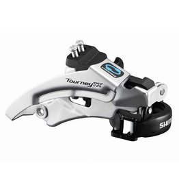 Shimano Tourney FD-TX800-TS3, Front derailleur, 7-8 speeds, Top swing, Dual pull, Multi clamp, Triple, 63-66°