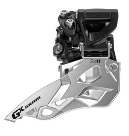 SRAM GX 2x11, Front derailleur, 2X11sp, Top Swing, Bottom Pull, 31.8/34.9mm Clamp,