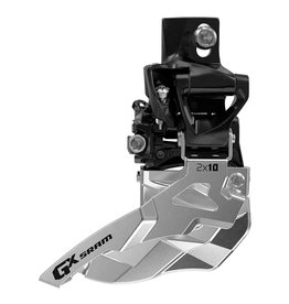 SRAM GX 2x10, Front derailleur, 2X10sp, Top Swing, Dual Pull, 31.8/34.9mm Clamp,