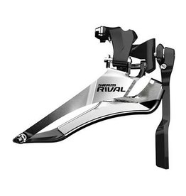 SRAM Rival22, Front derailleur, 2 sp, Down Swing, Down Pull, Braze-on Clamp, with chain spotter