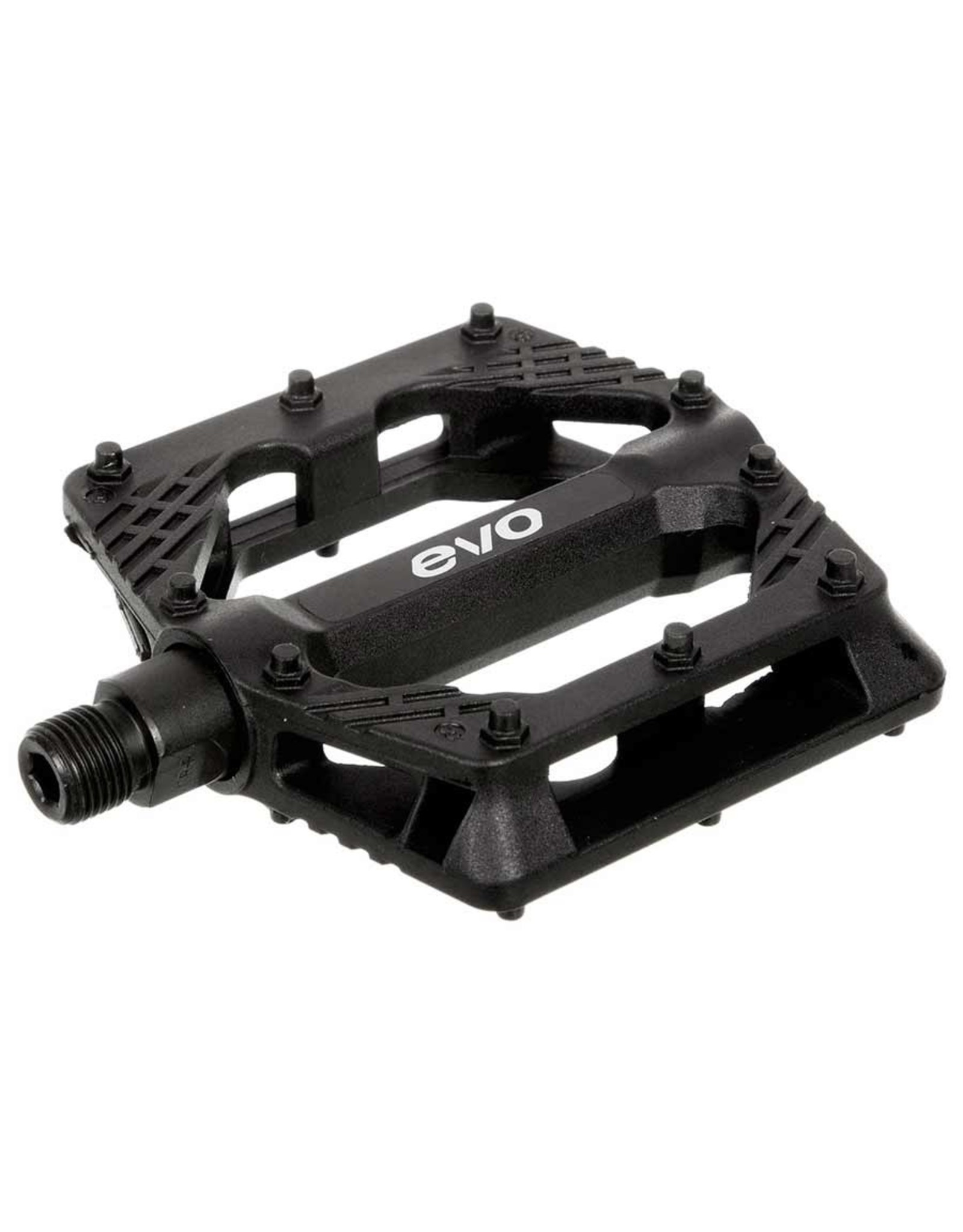 EVO Freefall Sport, Platform Pedals, Body: Nylon, Spindle: Cr-Mo, 9/16'', Black, Pair