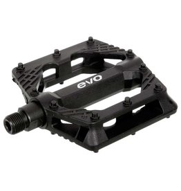 EVO Freefall Sport, Platform Pedals, Body: Nylon, Spindle: Cr-Mo, 9/16'', Black, Pair