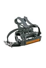 EVO Adventure Plus, Pedals with toe-clips and straps, Black