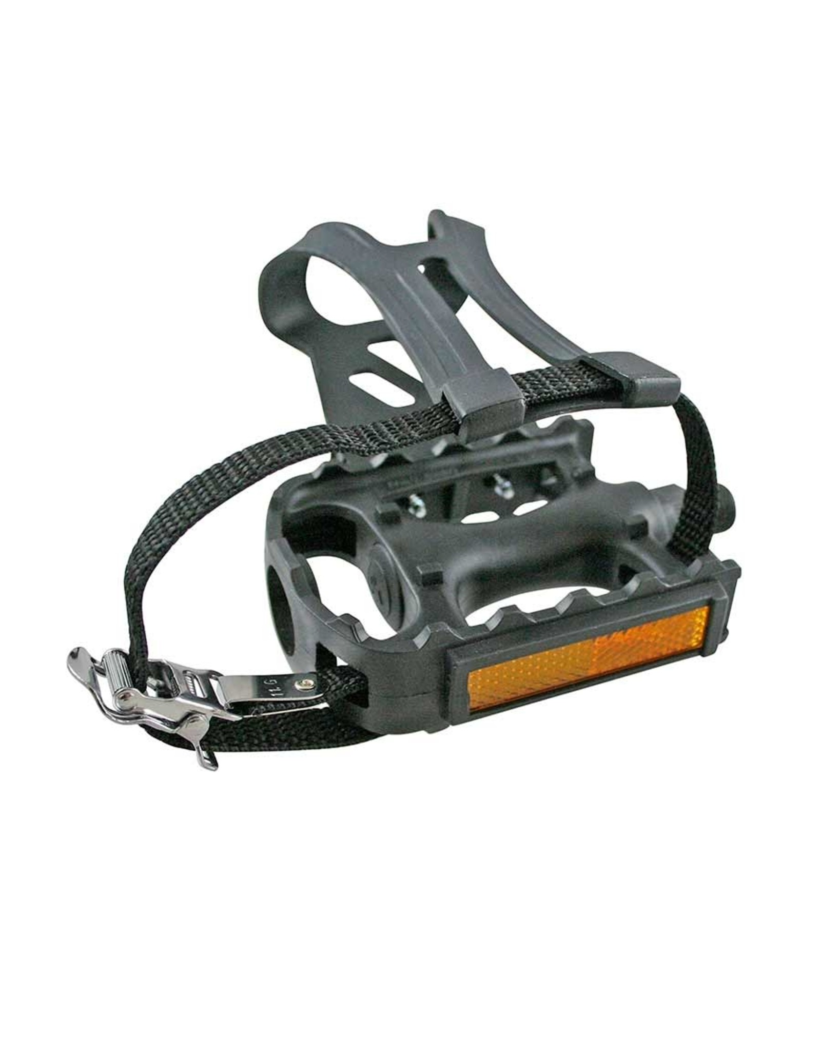 Adventure Plus, Pedals with toe-clips and straps, Black