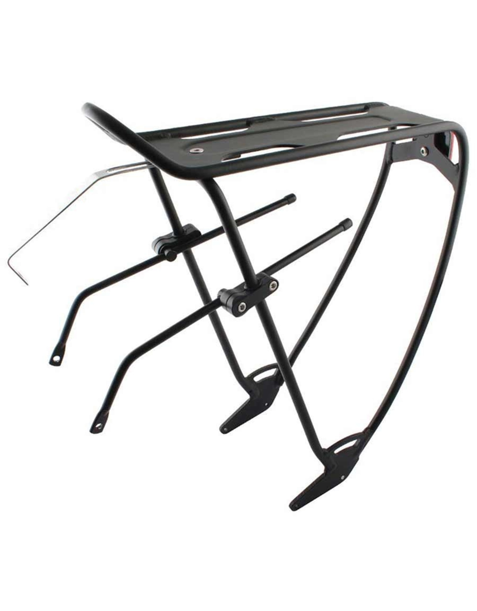 Robin, Rear rack, With top plate, Adjustable sliders, Black