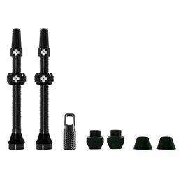 Tubeless Valve, Presta, 60mm, Black, Pair