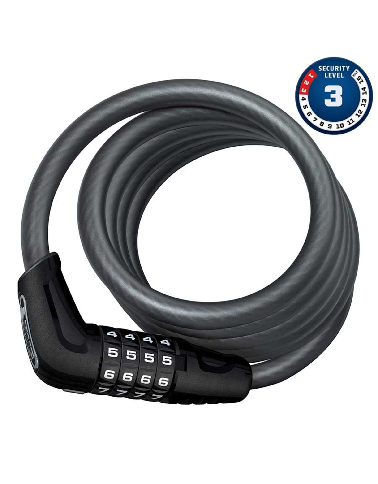 Numero 5510C, Cable with 4 digit combination lock, 10mm x 180cm (12mm x 5.9')