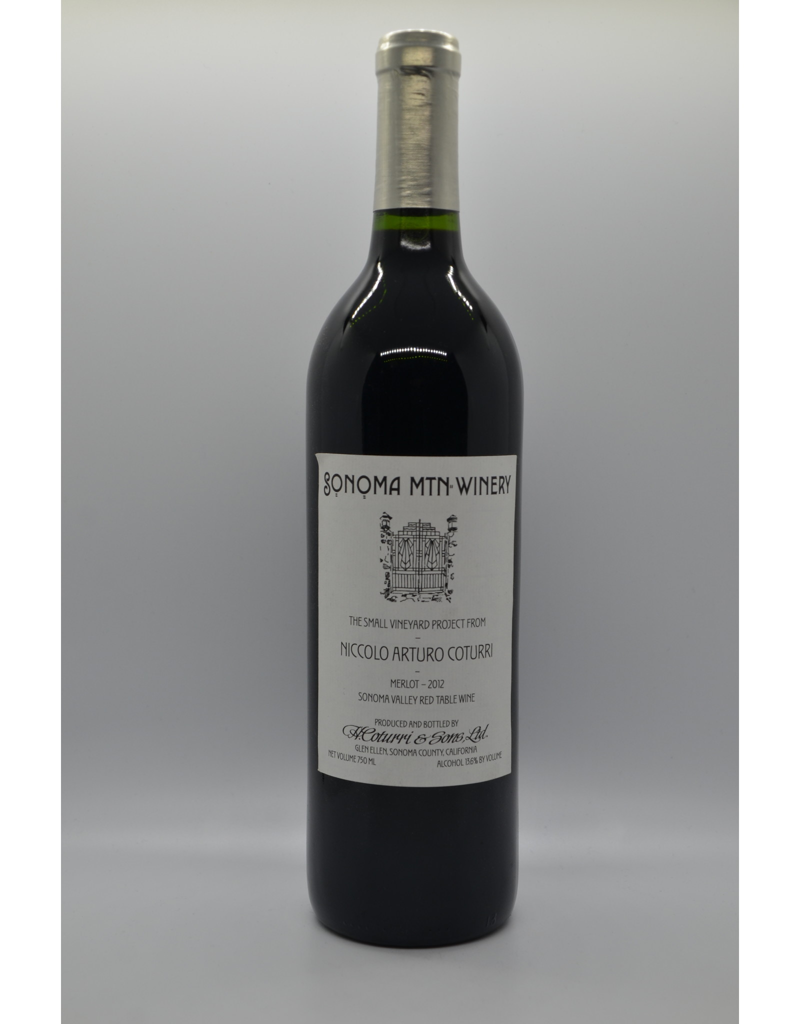 USA Sonoma Mtn Winery Merlot