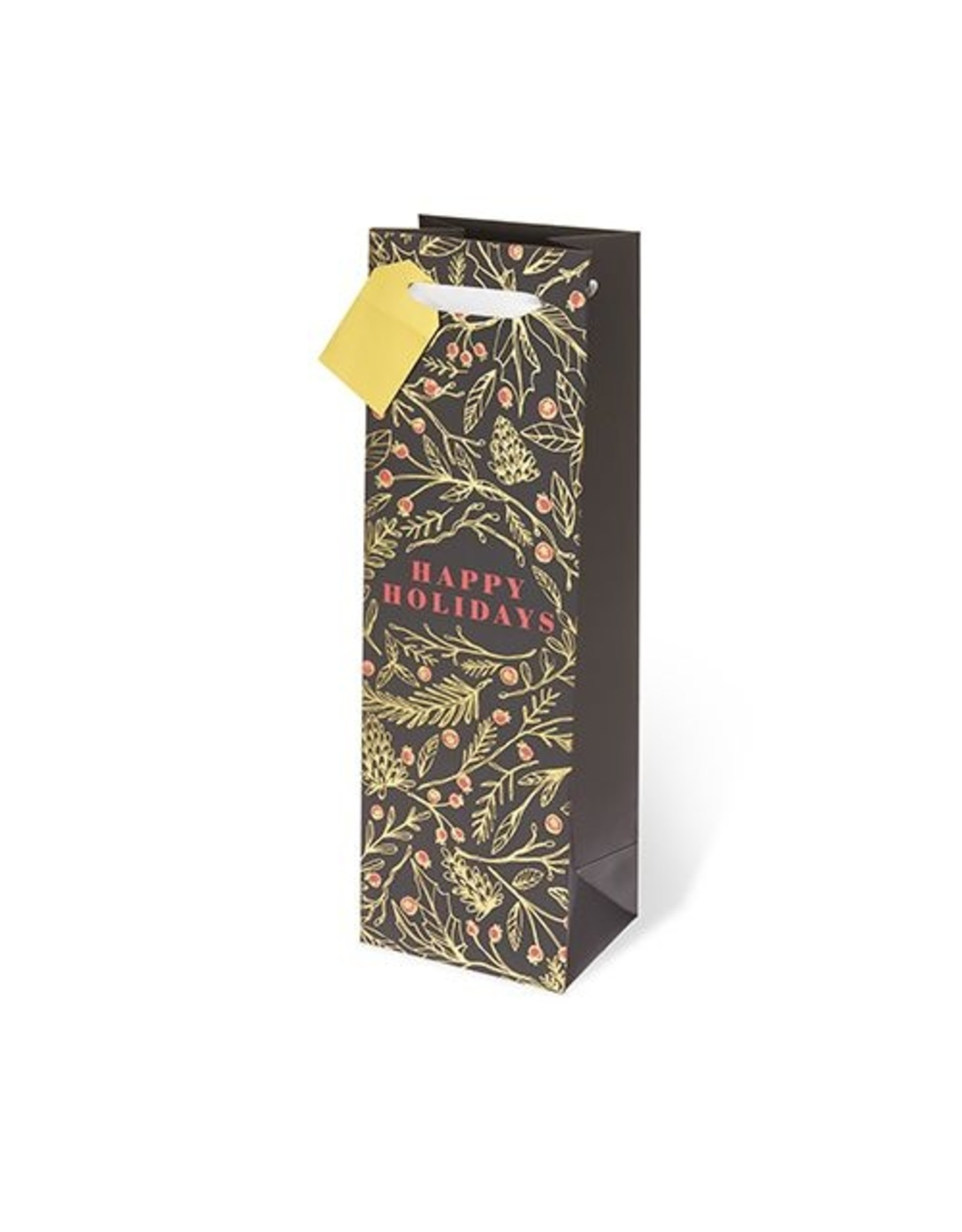 Holiday Floral Wine Bag