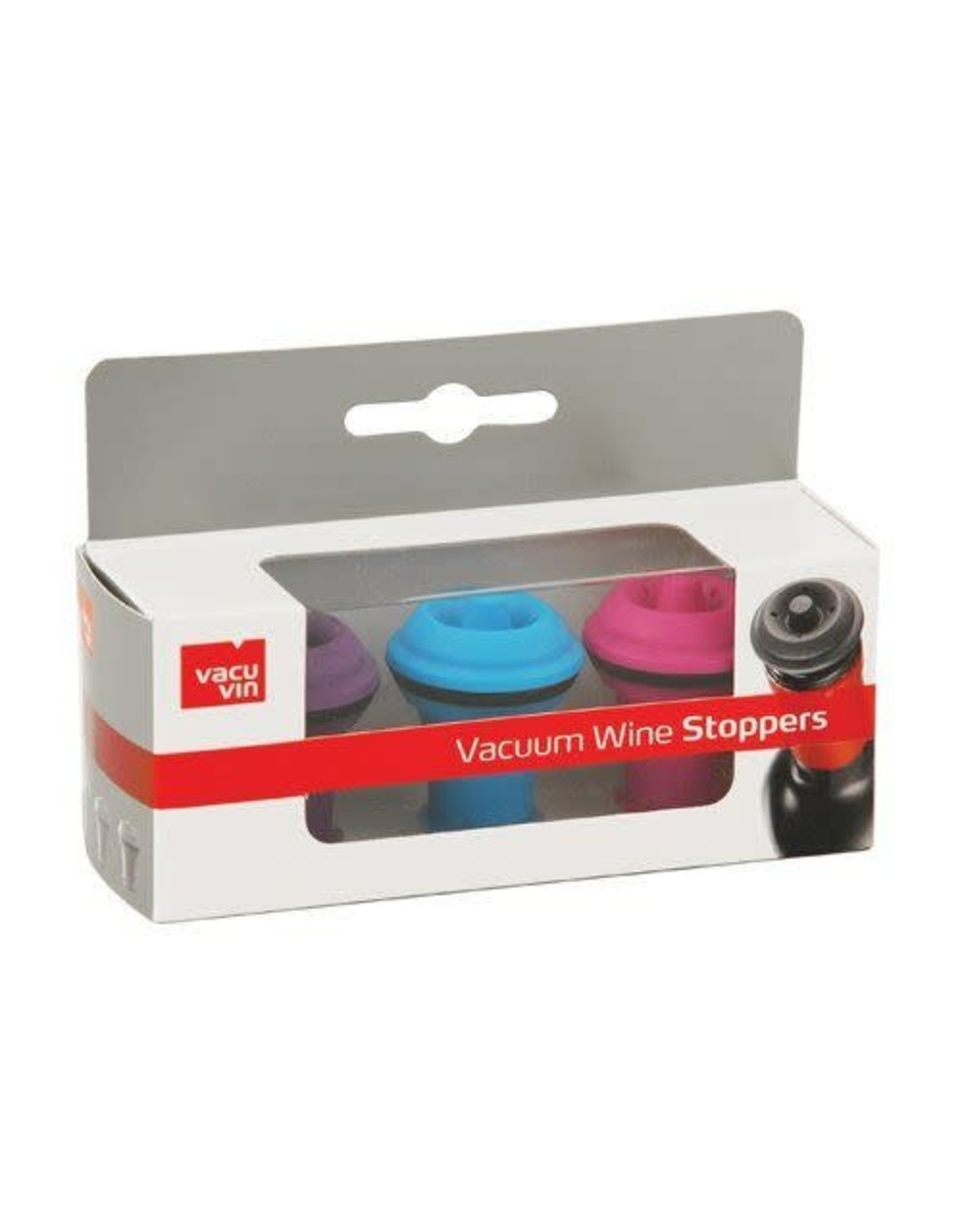 Vacuvin Color Wine Stoppers 3 Pieces