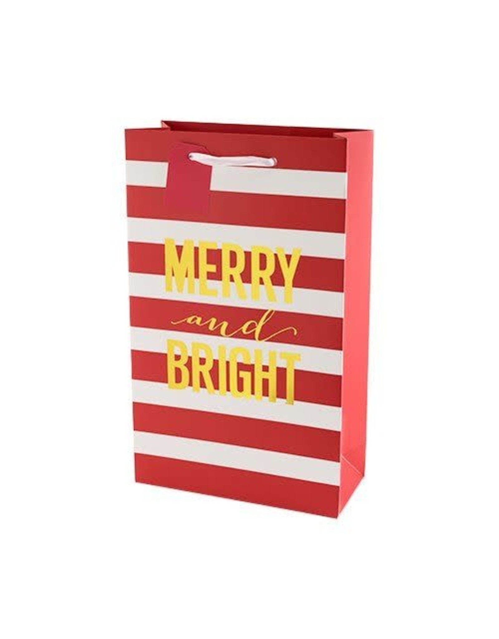 USA Merry And Bright Stripes Double Wine Bag