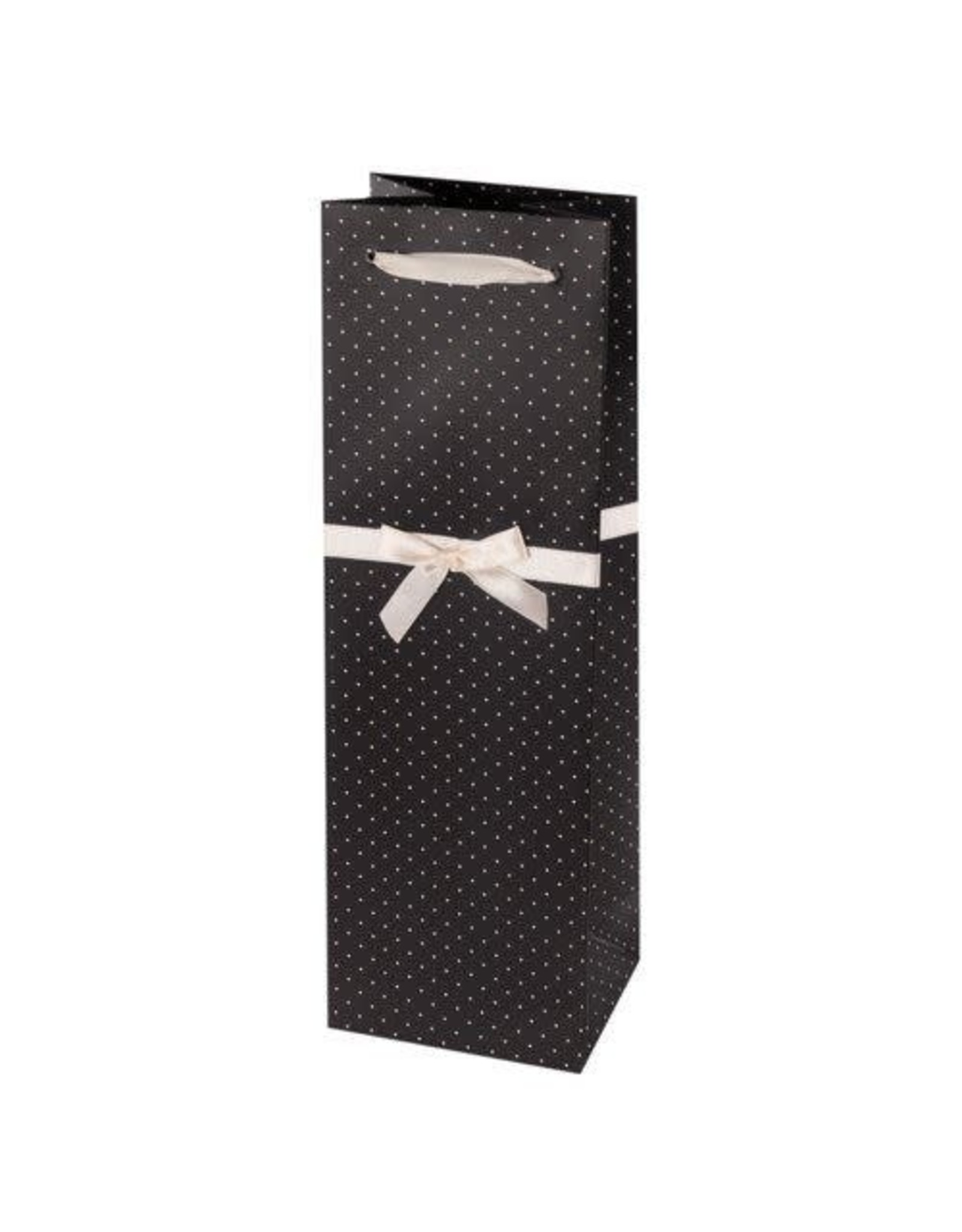 USA Elegant Black w/ White Dots Wine Bag