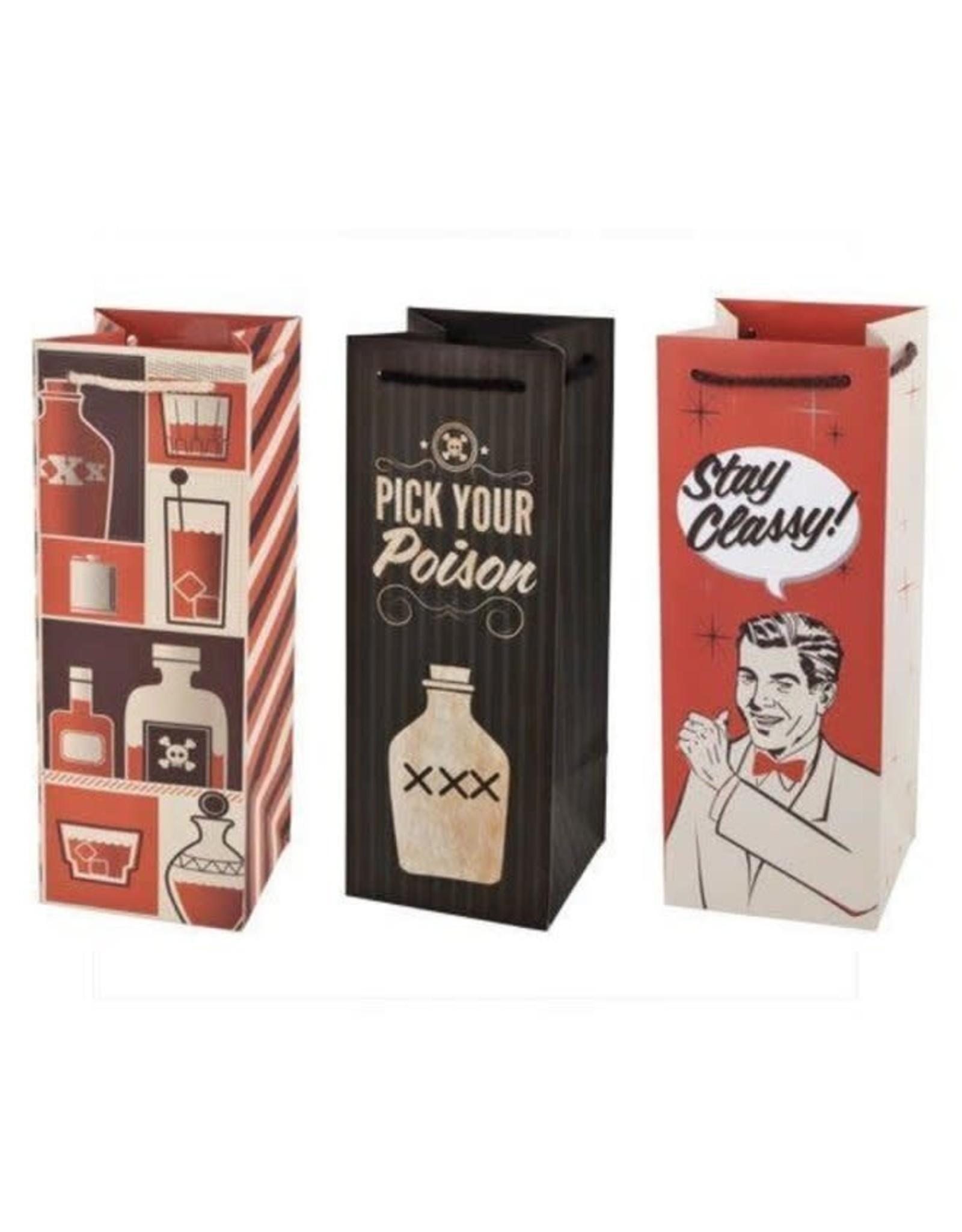USA Assorted Retro Drinking Icon Wine Bags 1.5L