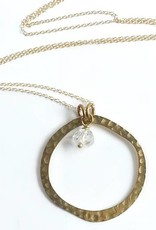 NECKLACE-OPEN CIRCLE HERKIMER