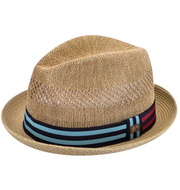 Bailey Hat Co. HAT-FEDORA-BERLE, STRAW BRAID