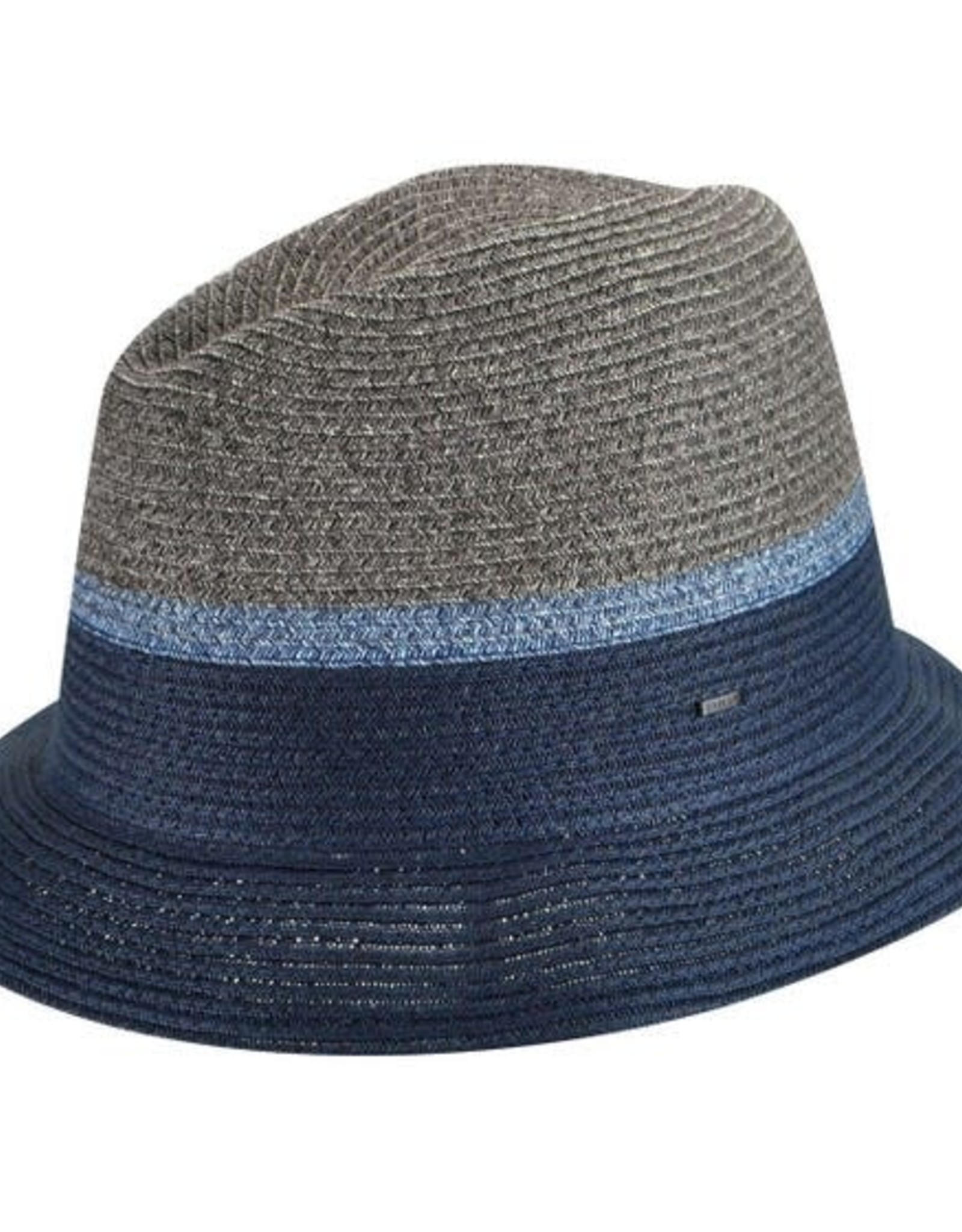 Bailey Hat Co. HAT-FEDORA-DILLANE, STRAW, NAVY, CRUSHABLE, SMALL